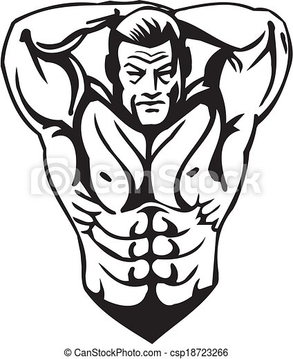 bodybuilding and powerlifting vector bodybuilding and clip art rh canstockphoto com