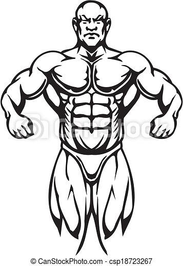 Bodybuilding and Powerlifting - vector. - csp18723267