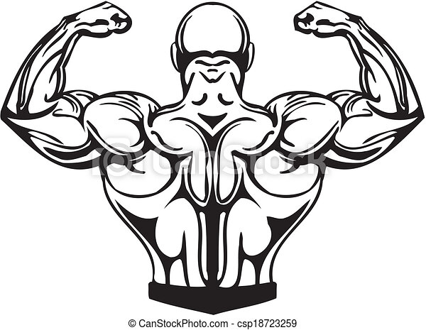 Bodybuilding and Powerlifting - vector. - csp18723259