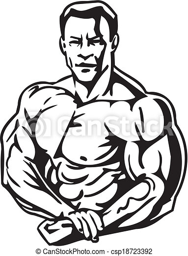 bodybuilding and powerlifting vector bodybuilding and eps rh canstockphoto com