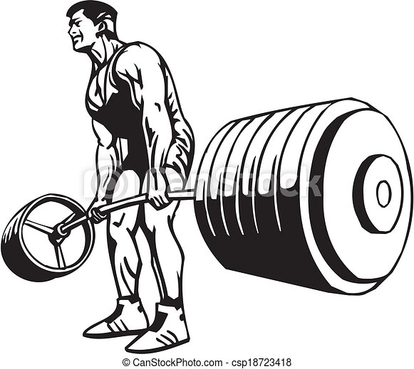 Bodybuilding and Powerlifting - vector. - csp18723418