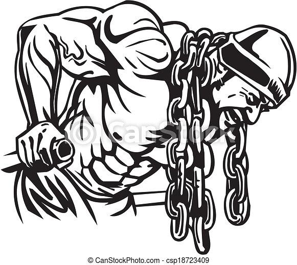 Bodybuilding and Powerlifting - vector. - csp18723409