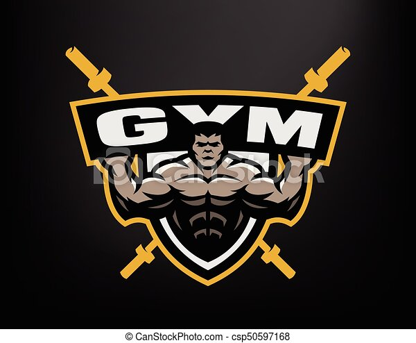 Bodybuilding Gym Logo Emblem Vector