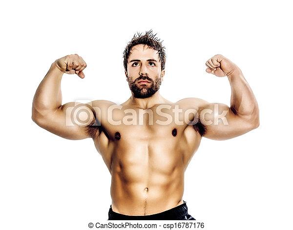 bodybuilding man - csp16787176