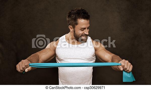 bodybuilding man - csp30629971