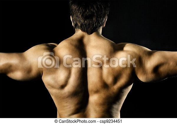 bodybuilding man - csp9234451