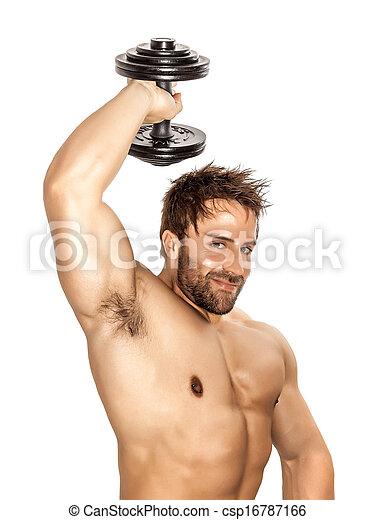 bodybuilding man - csp16787166