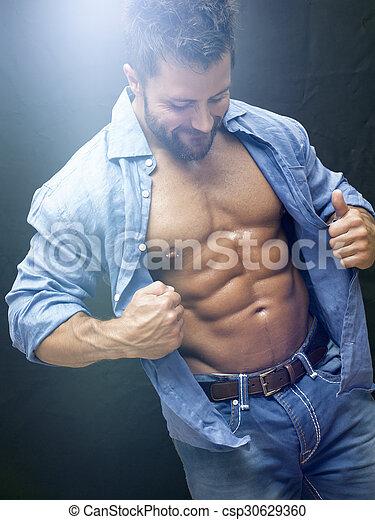 bodybuilding man - csp30629360