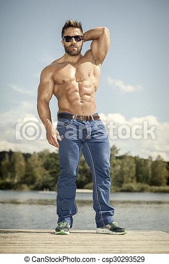 bodybuilding man - csp30293529