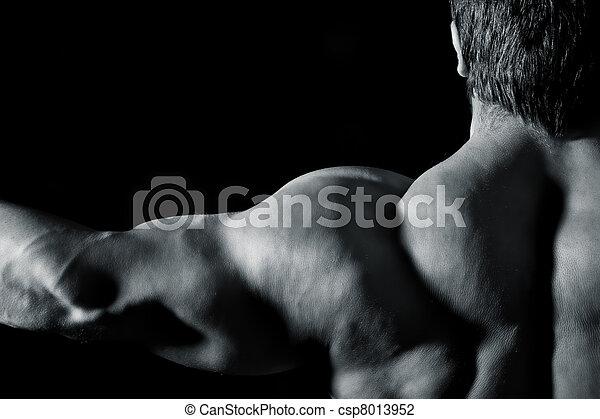 bodybuilding man - csp8013952