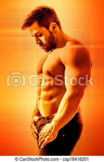 bodybuilding man - csp18416201