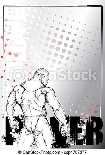 bodybuilding poster background 1 - csp4787877