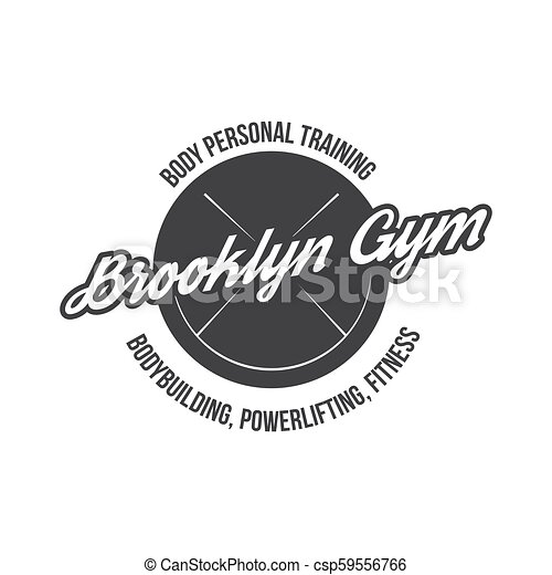 Bodybuilding Powerlifting Kettlebell Workout Logotype Sign Symbol Fitness Logo Emblem Design Elements Sport Icon And Elements