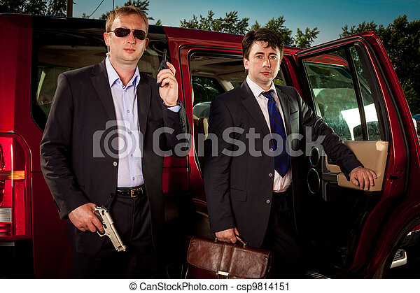 bodyguard and its boss - csp9814151