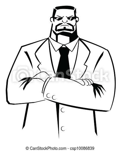 bodyguard vector illustration - csp10086839