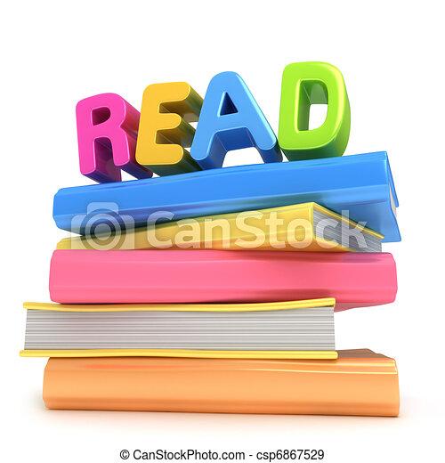 boek, lezende  - csp6867529