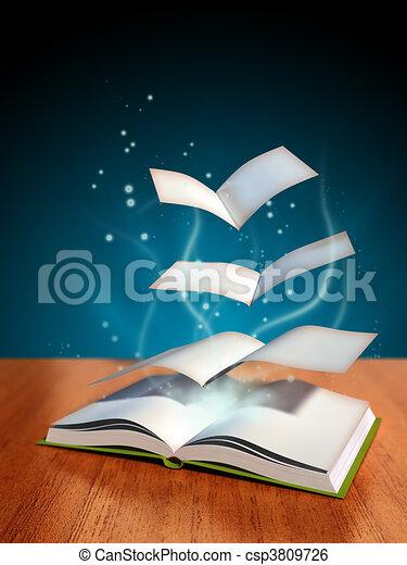 boek, magisch - csp3809726