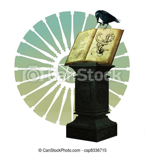 boek, magisch - csp8336715