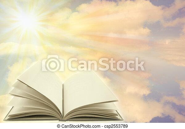 boek, open - csp2553789