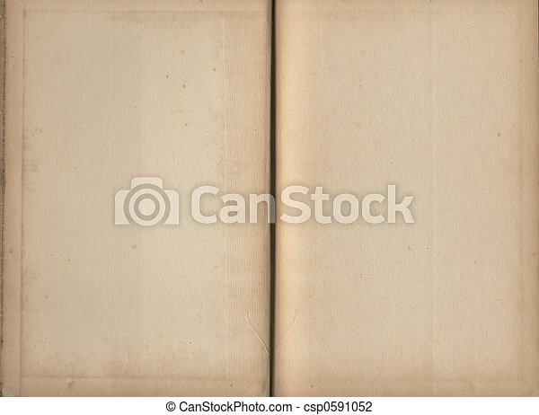 boek, pagina's, leeg - csp0591052