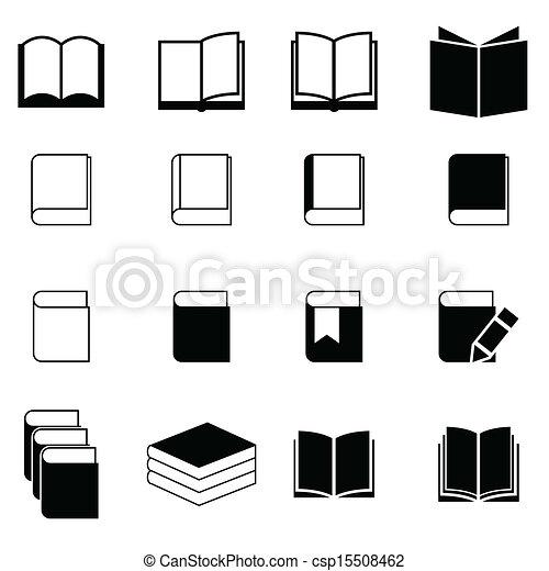 boek, set, pictogram - csp15508462