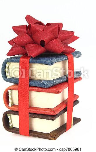 boek, stapel, lint - csp7865961