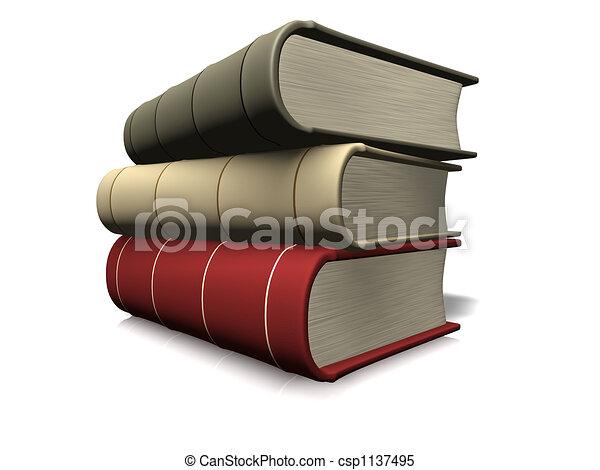 boek, stapel - csp1137495