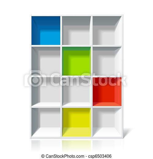 boekenplank, lege - csp6503406