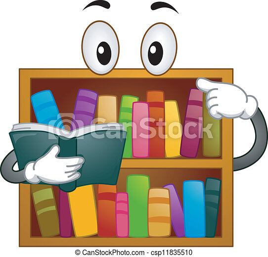 boekenplank, mascotte - csp11835510