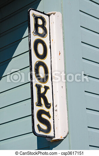 boekhandel, meldingsbord - csp3617151