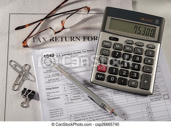 boekhouding, belasting - csp26665740