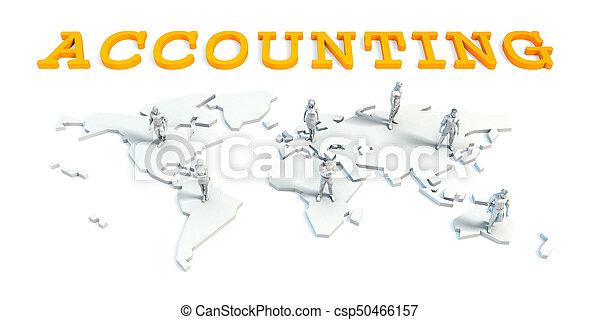 boekhouding, concept, handel team - csp50466157
