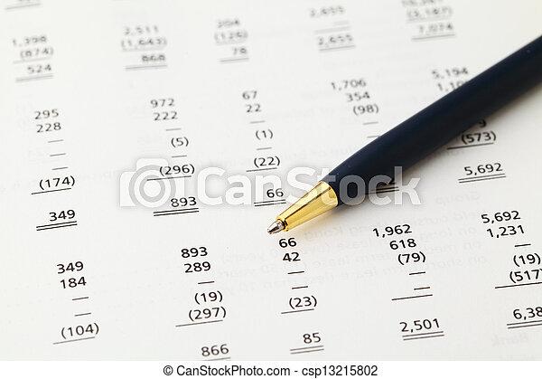 boekhouding, financieel, data - csp13215802
