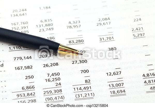 boekhouding, financieel, data - csp13215804