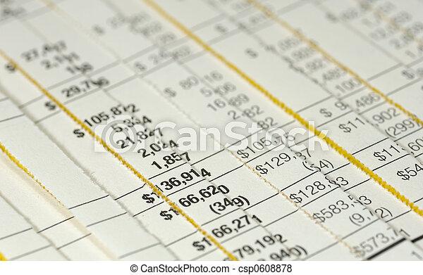 boekhouding, gerechtelijk - csp0608878