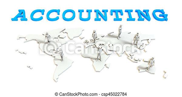 boekhouding, globale zaak - csp45022784