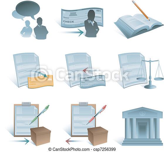 boekhouding, iconen - csp7256399