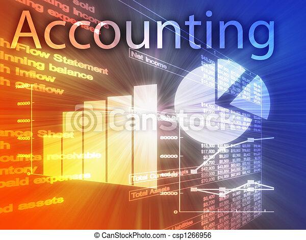 boekhouding, illustratie - csp1266956