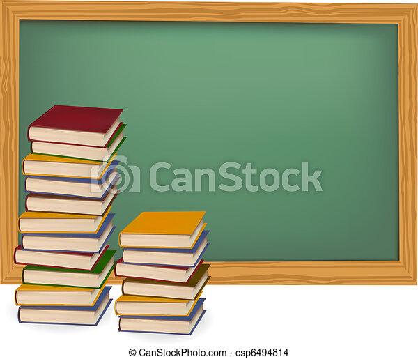 boekjes , desk., vector., school - csp6494814