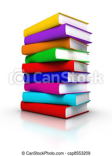boekjes , kleurrijke, stapel - csp8553209