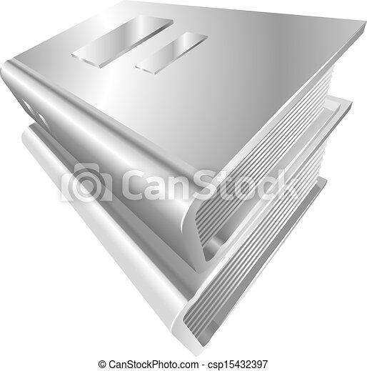 boekjes , metaal, pictogram - csp15432397