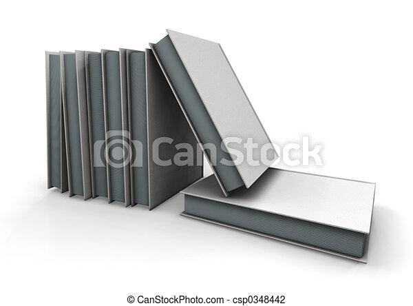 boekjes , stapel - csp0348442