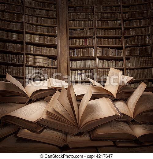 boekjes , stapel - csp14217647