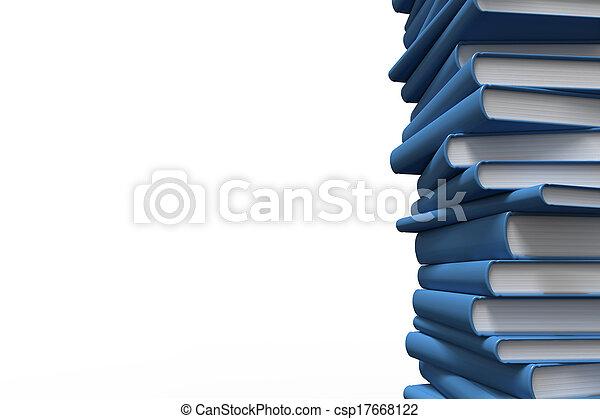 boekjes , stapel - csp17668122