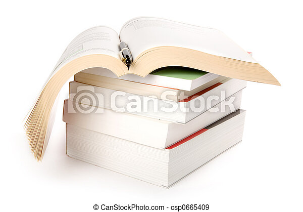 boekjes , stapel - csp0665409