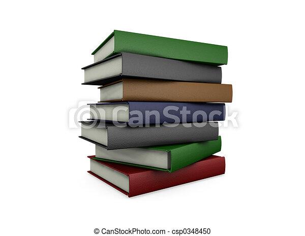 boekjes , stapel - csp0348450