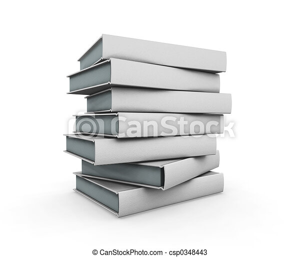 boekjes , stapel - csp0348443