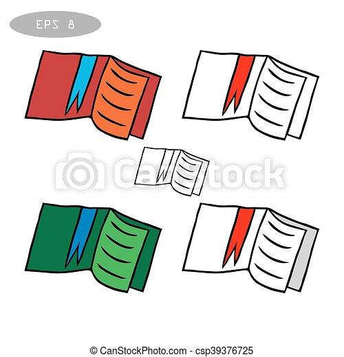 boekjes , vector, set, iconen - csp39376725