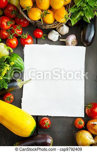 boer vers, groentes, vruchten - csp9792409