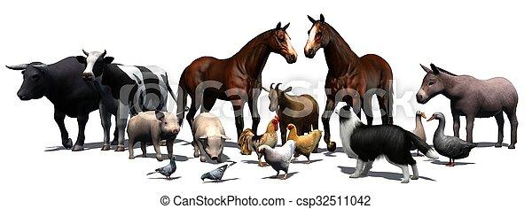 boerderijdieren - csp32511042